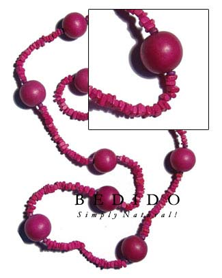 4-5mm Pink Coco Square Bohemian Necklace
