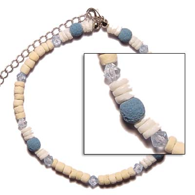 Coco, Shell, Limestone Handmade Anklets