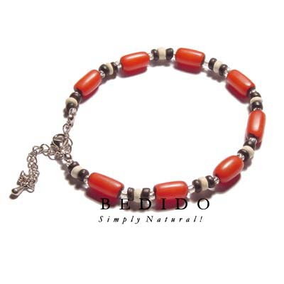 Ethnic Red Buri Natural Anklets