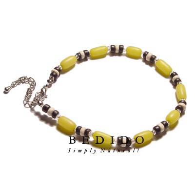Ethnic Yellow Buri Natural Anklets