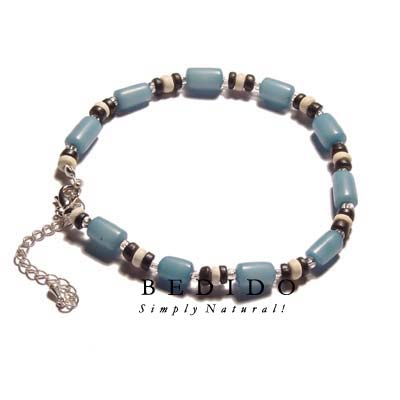 Ethnic Light Blue Buri Anklets