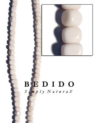 White Bone Bead Nuggets Bone Horn Beads Necklace