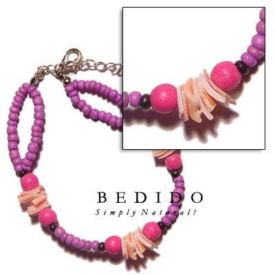 2 Rows 2-3mm Coco Shell Bracelets