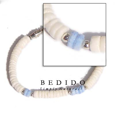 White Shell And Metal Shell Bracelets