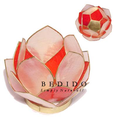 Lotus Candle Holder Red Gifts Sovenirs Give Away
