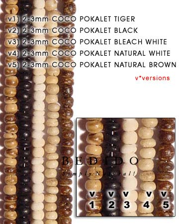 2-3mm Coco Pukalet Bleach Coco Beads Coco Necklace