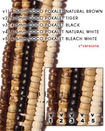4-5mm Coco Pukalet Bleach Coco Beads Coco Necklace