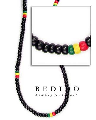 Rasta Necklaces Multicolored Necklace