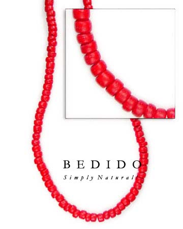 4-5mm Red Coco Pukalet Coco Beads Coco Necklace