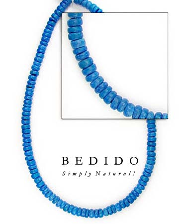4-5mm Blue Coco Pukalet Coco Beads Coco Necklace