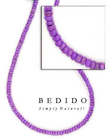 4-5mm Violet Coco Pukalet Coco Beads Coco Necklace