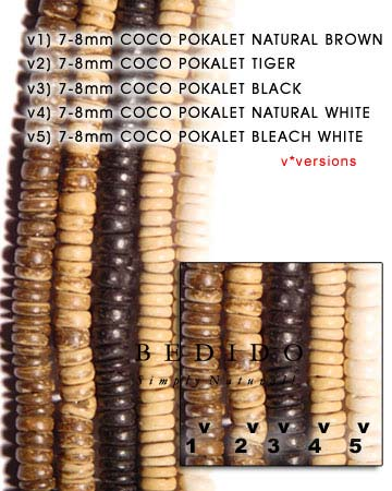 7-8mm Coco Pukalet Natural Coco Beads Coco Necklace