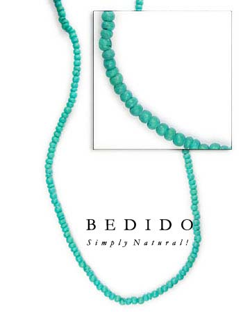 2-3mm Aqua Green Coco Coco Beads Coco Necklace