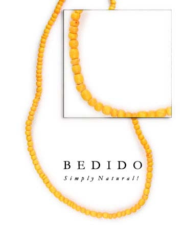 2-3 Mm Golden Yellow Coco Beads Coco Necklace
