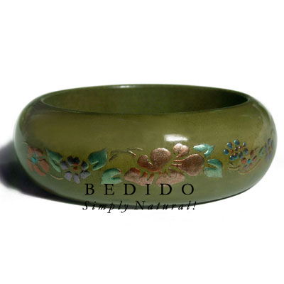 Early Spring Tone Wood Hand Painted Bangles