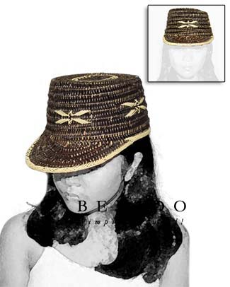 Rattan Cora Hat Brown Hats