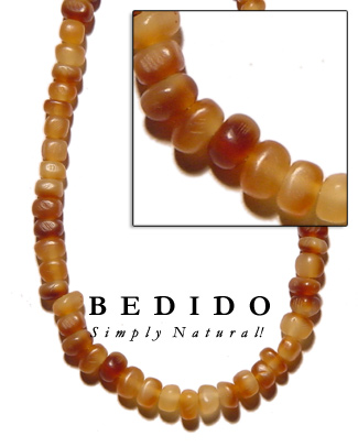 Golden Horn Thin Bead Bone Horn Beads Necklace