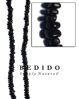 Black Horn Bead Nuggets Bone Horn Beads Necklace