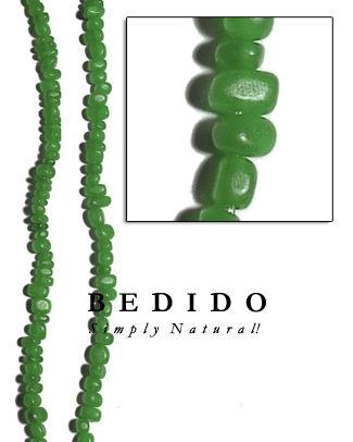 Green Horn Bead Nuggets Bone Horn Beads Necklace