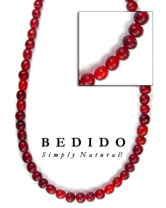 Red Horn Beads Bone Horn Beads Necklace