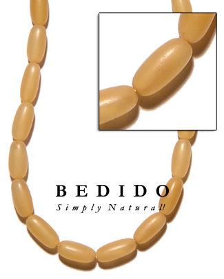 Golden Horn Natural Beads Bone Horn Beads Necklace