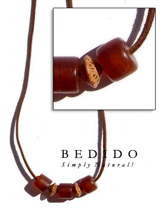Leather Thong W/ Horn Leather Necklaces