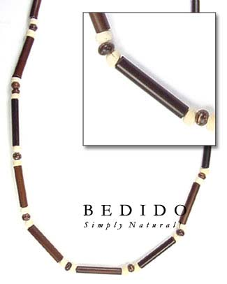 Natural Bamboo Tube Necklace Natural Necklace
