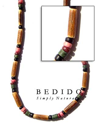 Bamboo Tube Necklace Natural Necklace