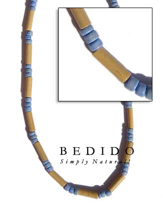Bamboo Tube W/ Coco Pastel Color Necklace