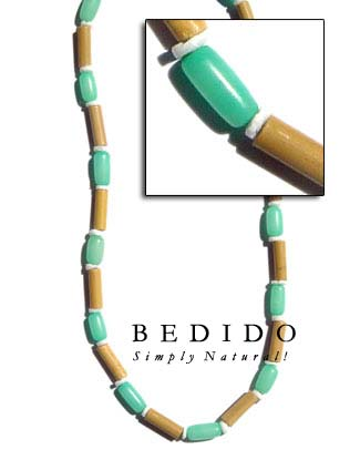 Bamboo Tube Pastel W/ Pastel Color Necklace