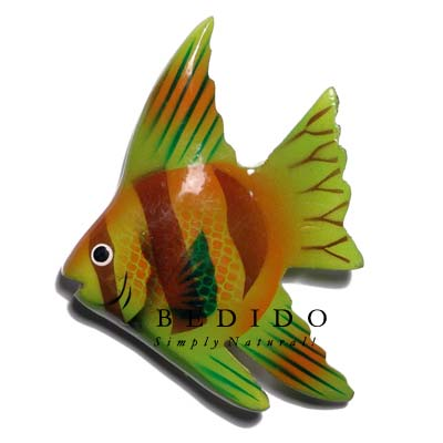 Fish Hand Painted Wooden Refrigerator Magnets
