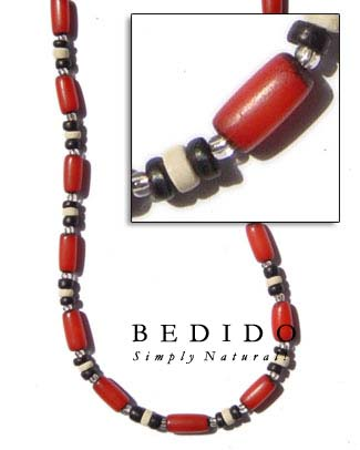 Red Buri Seed Necklace Seed Necklace