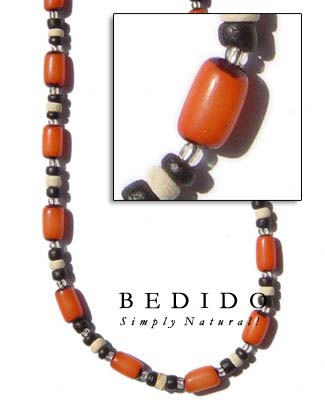 Orange Buri Seed Necklaces Seed Necklace