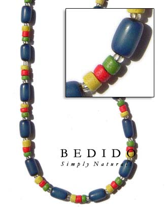 Blue Buri Seed Necklace Seed Necklace