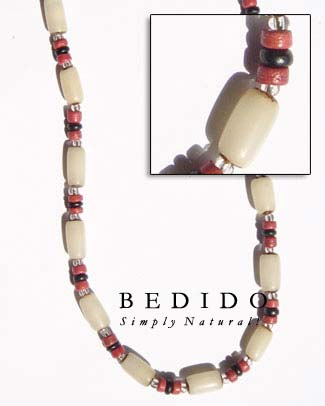 White Buri Seed Tube Seed Necklace