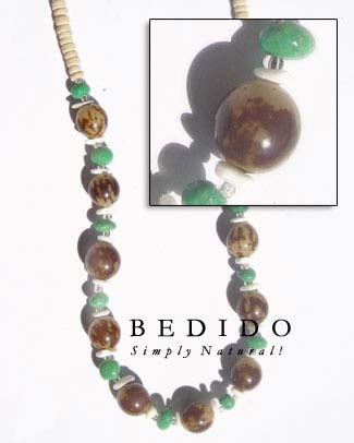 Buri Beads Necklace Seed Necklace