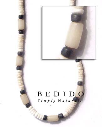 White Shell With White Seed Necklace