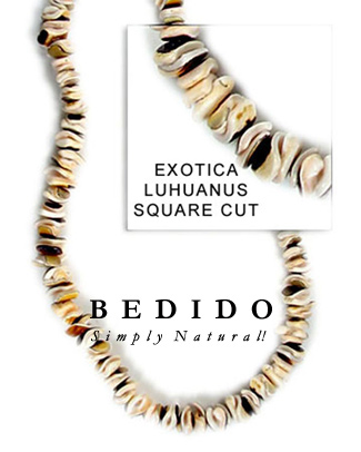 Exotica Luhuanus Square Cut Shell Beads