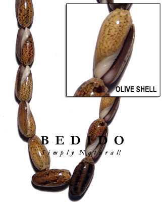 Olive Shell Beads