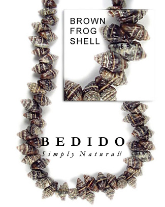 Brown Frog Shell Beads