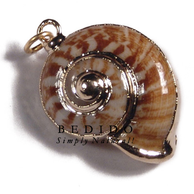 Land Snail Shell Molten Gold Metal Jewelry