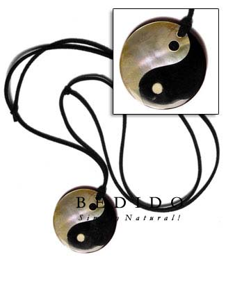 40mm Round Yin Yang Surfer Necklace