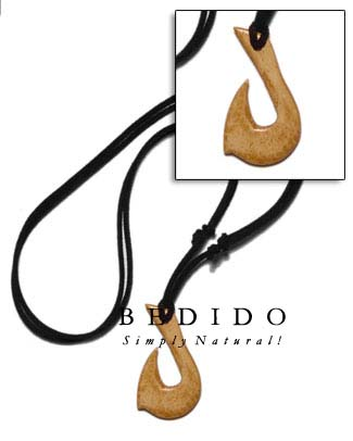 Antique Natural Carabao Bone Surfer Necklace