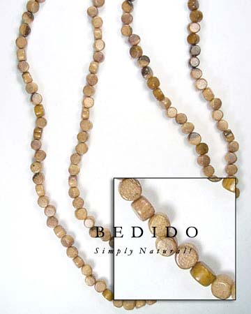 Robles Disc Side Drill Wood Beads Wooden Necklace