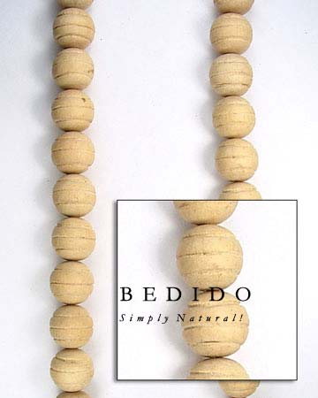 Natural White Woodbeads Wood Beads Wooden Necklace