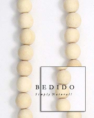 Natural White Wood Oval Wood Beads Wooden Necklace