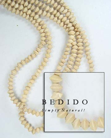 Natural White Wood Mentos Wood Beads Wooden Necklace
