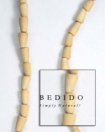 Natural White Wood Tear Wood Beads Wooden Necklace