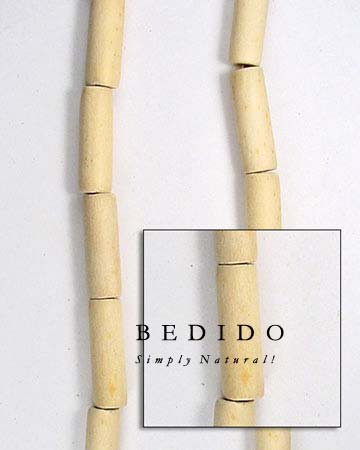 Natural White Wood Tube Wood Beads Wooden Necklace
