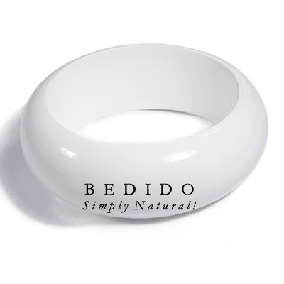 White Stained High Gloss Stained Bangles